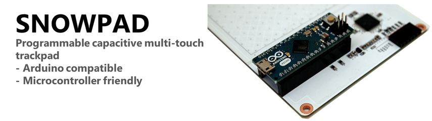 SNOWPAD: Programmable capacitive multi-touch trackpad - arduino and microcontroller friendly