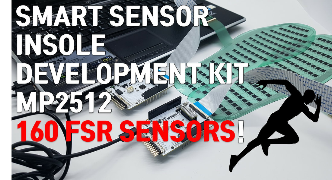 Smart Sensor Insole Development Kit MP2512 that has 160 FSR Force Sensing Resistor Sensors